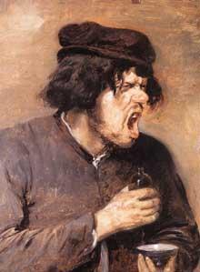 Adrien Brouwer: la potion amère. Vers 1635. Huile sur toile. Frankfort, Städelsches Kunstinstitut