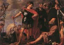 Caspar de Crayer: Alexandre et Diogène. Huile sur toile, 196 x 278 cm. Cologne, Wallraf-Richartz Museum