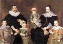 Cornelis de Vos: la famille de l'artiste. 1630-1635. Huile sur toile, 144,5 x 203,5 cm. Gand, muse des beaux arts