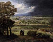 Adam Franz Van der Meulen: le nouveau Château de Saint-Germain-en-Laye. Huile sur toile, 110 x 135 cm. Paris, Musée Carnavalet