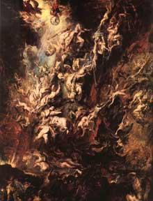 La chute des damnés. Vers 1620. Huile sur toile, 286 x 224 cm. Munich, Alte Pinakothek