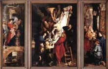 Descente de croix. 1612-1614. Huile sur panneau, 421 x 311 cm (panneau central), 421 x 153 cm (panneaux latéraux). Anvers, Vrouwekathedraal