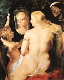 Venus au miroir. Vers 1615. Huile sur panneau, 124 x 98 cm. Vienne, collection du prince de Lichtenstein.