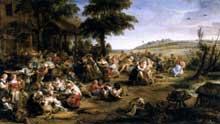 La kermesse flamande. 1635-1638. Huile sur toile, 149 x 261 cm. Paris, Musée du Louvre.