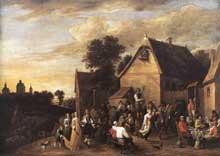 David Teniers le Jeune: la kermesse flamande. 1652. Huile sur toile, 157 x 221 cm. Bruxelles, Musées Royaux des Beaux-Art