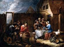 Gillis van Tilborgh: repas en plein air. 1657. Huile sur toile, 60 x 80 cm. Collection privée