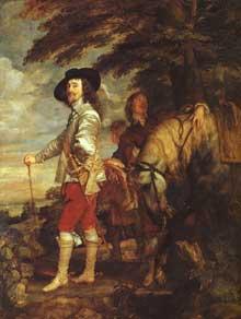 Antoine Van Dyck: Charles I, roi d'Angleterre à la chasse. 1635. Huile sur toile, 266 x 207 cm. Paris, Musée du Louvre