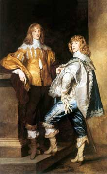 Antoine Van Dyck: Lord John et Lord Bernard Stuart. Vers 1638. Huile sur toile, 238 x 146 cm. Londres, National Gallery