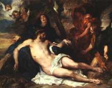 Antoine Van Dyck: Déposition de la Croix. 1634. Huile sur panneau.Munich, Alte Pinakothek