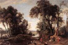 Jean Wildens: paysage avec bergers. 1631. Huile sur toile, 135 x 201 cm. Anvers, Musée royal des Beaux Arts