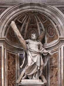 François Duquesnoy: saint André. 1629-1633. Marbre, 450cm. Rome, basilique saint Pierre