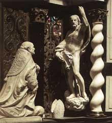 Lucas Faydherbe: tombeau de l'archevêque André Cruesen. 1660. Marbre. Cathédrale Saint Rombaut, Malines