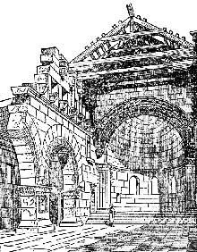 Syrie du nord: Kalb-Lauzeh: restitution de l'intérieur de l'église