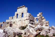 Syrie du nord: ruines de l'église sud-ouest de Brad, Vè