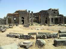 Syrie: Bosra, ruines de la cathédrale