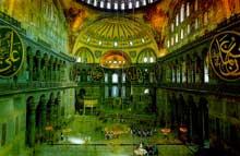 Constantinople: Sainte Sophie. L'intérieur