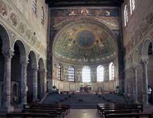 Ravenne: saint Apollinaire in Classe. Nef et abside