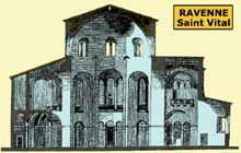 Ravenne : saint Vital : section de l'édifice