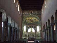 Croatie: Parenza-Porec: la basilique saint Euphrasius. L'intérieur