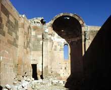 Ererouk en Arménie: la basilique: l'abside