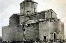 Mren (Arménie): vue de l'église avant sa ruine