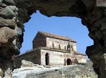 Uplis-Tzikhe en Géorgie: l'église