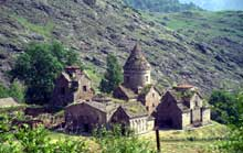 Gochavank (Arménie): église saint Mère de Dieu, église principale du monastère, achevée en 1188