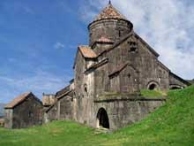 Haghpat au nord d'Ani: l'église principale (XI-XIIIè