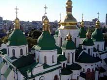 Kiev: cathédrale sainte Sophie: XIè, avec remaniements du XVIè