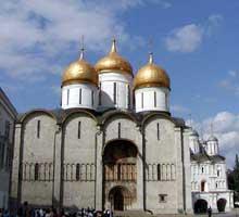 Moscou: l'église de la Dormition