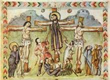 Enluminure de l'Evangéliaire syriaque du moine Rabula (586)