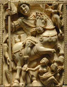 Le Dyptique Barberini. Détail. Début VIè. Päris, musée du Louvre