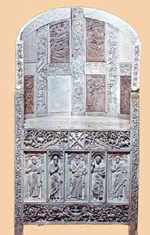Ravenne: chaire de l'évêque Maximien (546-554)