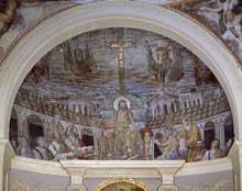 Rome, sainte Pudentienne: mosaïque de l'abside. Vers 390
