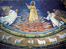 Rome, saints Côme et Damien: mosaïque de l'abside