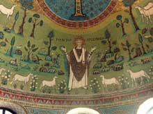 Ravenne : saint Apollinaire in Classe. Mosaïques de l'abside