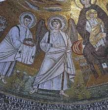 Croatie: Parenza-Porec: la basilique saint Euphrasius. Mosaïques de l'abside