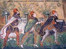 Ravenne: saint Apollinaire le Neuf. Mosaïque des rois Mages