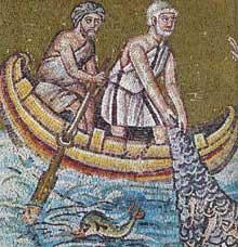 Ravenne: saint Apollinaire le Neuf. L'appel de Pierre et André