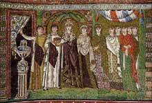 Ravenne, saint Vital: l'impératrice Théodora et sa cour