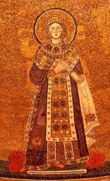 Rome: sainte Agnès Hors les Murs: mosaïque de Sainte Agnès