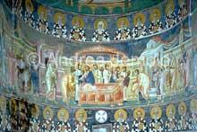 Staro Nagoricino en Macédoine: fresque de la communion des apôtres. 1314