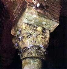 Constantinople: citerne de Yerebatan Saraï: chapiteau à feuilles charnues