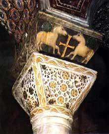 Ravenne, église saint Vital: chapiteau schématisé