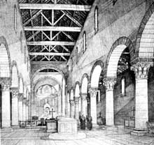 Abbaye de Saint Gall: restitution de la nef