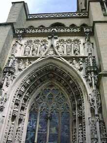 Lausanne, la cathédrale. Portail, détail