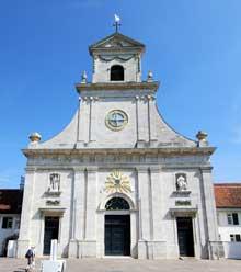Façade de l'église de Mariastein dans le canton de Bale campagne