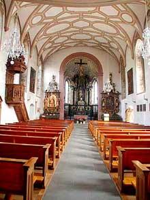 Le couvent de Werthenstein dans le canton de Lucerne. L'église