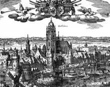 Matthias Mérian: La ville de Francfort. 1612. Gravure