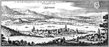 Matthias Mérian: La ville de Sempach. 1612. Gravure